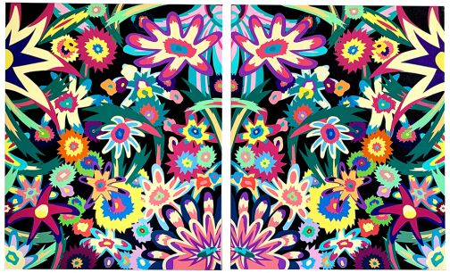 Pastel Flowers Diptych